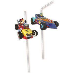 Disney Mickey Roadster szívószál, 6 db-os szett