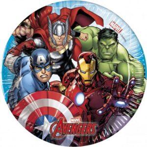 Mighty Avengers, Bosszúállók Papírtányér 8 db-os 19,5 cm