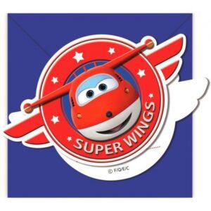 Super Wings Party Meghívó 6 db-os