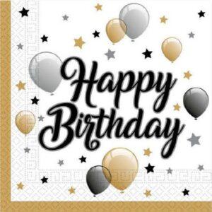 Milestone, Happy Birthday szalvéta 20 db-os