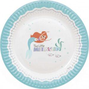 Ariel Under The Sea, Papírtányér 8 db-os 23 cm