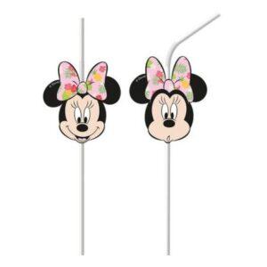 Disney Minnie Tropical szívószál, 6 db-os szett