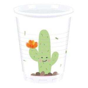 Cactus, Kaktusz Műanyag pohár 8 db-os 200 ml