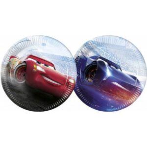 Disney Cars-The Legend of The Track, Verdák Papírtányér 8 db-os 23 cm