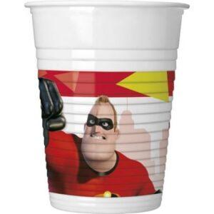 Disney A Hihetetlen család 2 Műanyag pohár 8 db-os 200 ml