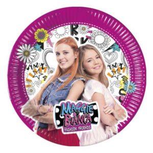 Maggie And Bianca, Maggie és Bianca – Divatból jeles Papírtányér 8 db-os 23 cm