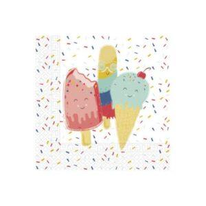 Happy Ice cream, fagyi szalvéta 20 db-os