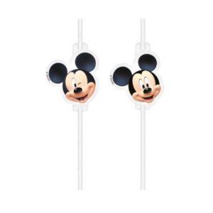 Disney Playful Mickey papír szívószál, 4 db-os szett