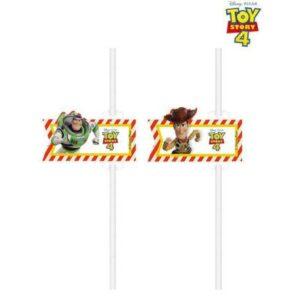 Disney Toy Story, Játékháború papír szívószál, 4 db-os szett