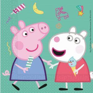 Peppa Pig Messy Play, Peppa malac szalvéta 20 db-os