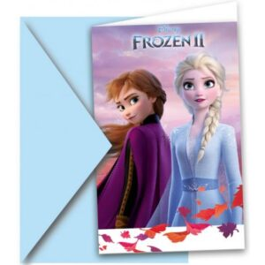 Disney Frozen II, Jégvarázs Party Meghívó 6 db-os