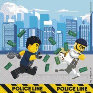 Lego City szalvéta 20 db-os