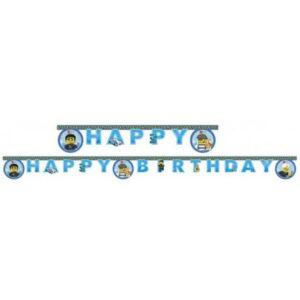Lego City Happy Birthday felirat 2 m