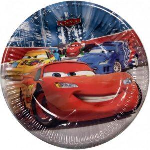 Disney Cars Classic, Verdák Papírtányér 8 db-os 19,5 cm