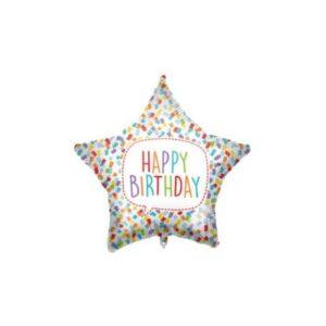 Happy Birthday Bright Star fólia lufi 46 cm