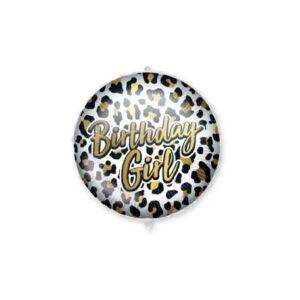 Birthday Girl Leopard fólia lufi 46 cm