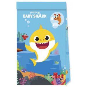 Baby Shark Papírzacskó 4 db-os