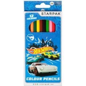 Hot Wheels Színes ceruza 12 db-os
