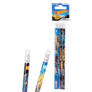 Hot Wheels HB Grafit ceruza radír véggel 4 db-os