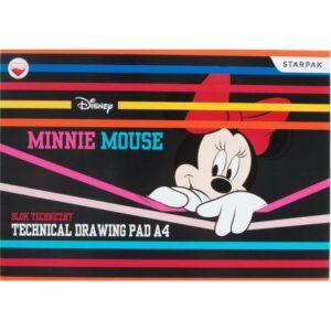 Disney Minnie A/4 vázlatfüzet, rajzfüzet 10 lapos rajzlap