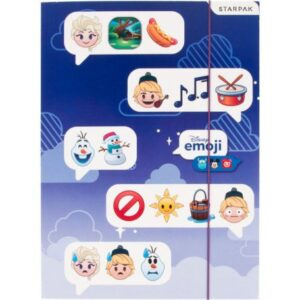 Disney Jégvarázs Emoji A/4 gumis mappa