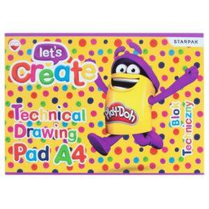 Play-Doh A/4 vázlatfüzet, rajzfüzet 10 lapos rajzlap