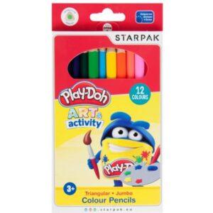 Play-Doh Jumbo háromszögletű színes ceruza 12 db-os