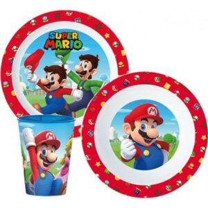 Super Mario étkészlet, micro műanyag szett