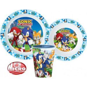 Sonic, a sündisznó étkészlet, micro műanyag szett
