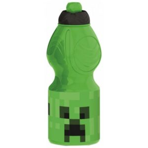 Minecraft kulacs, sportpalack 400 ml